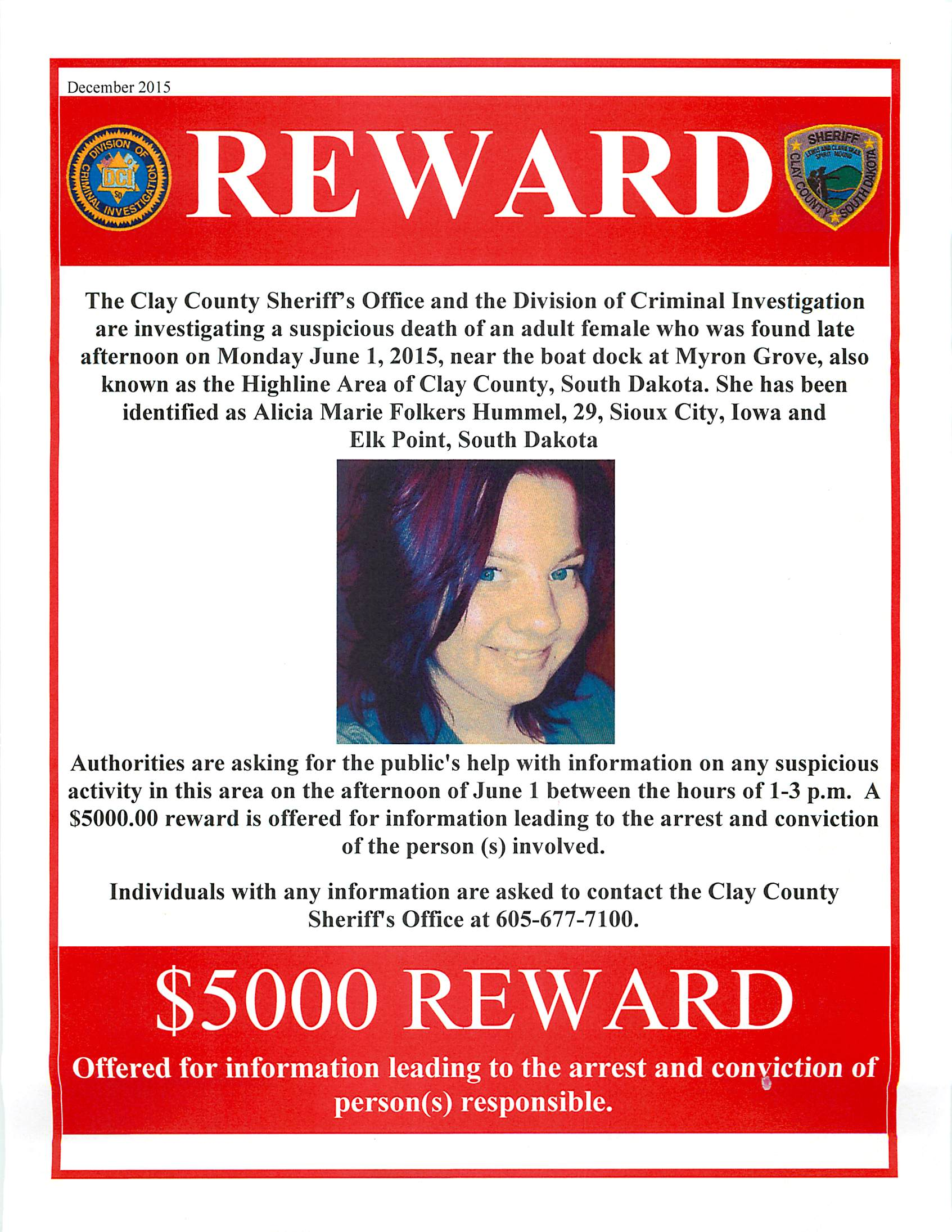Clay Couty SD Reward Poster