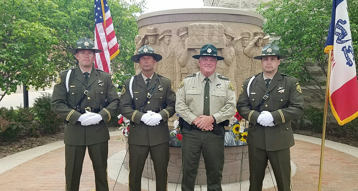 2016 Sheriff  Honor Guard at Memorial