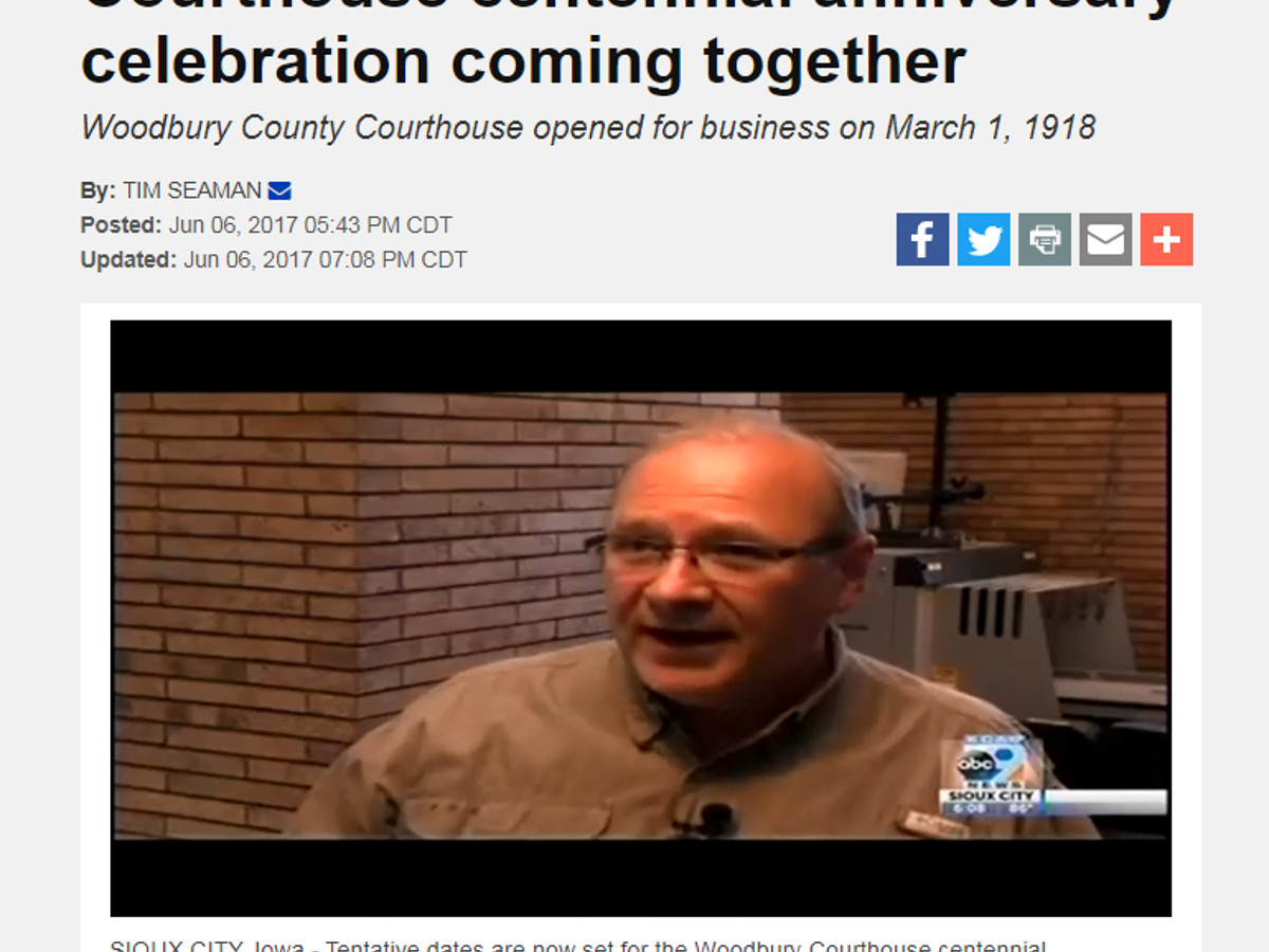 Courthouse centennial anniversary celebration coming together
